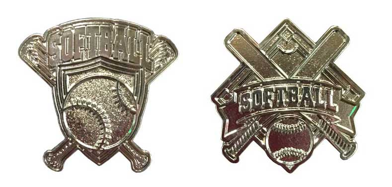 Affordable Softball Trading Stock Pins