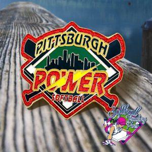 Pittsburgh Power Softball Pin